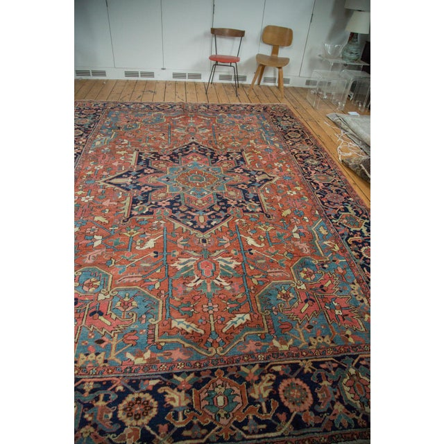 "Vintage Heriz Carpet - 9' X 11'8"" - Image 4 of 10"