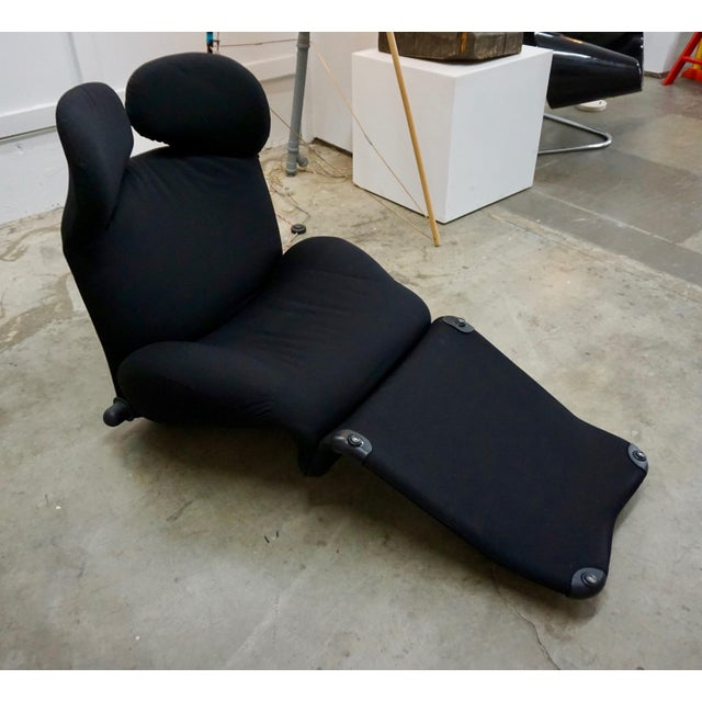 Designed by Japanese designer Toshiyuki Kita for Cassina in the 1980's.Can be converted from a lounge chair to a chaise...