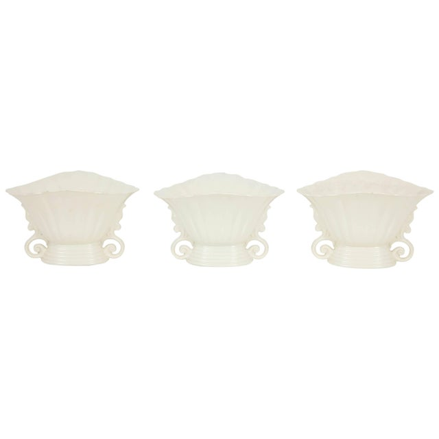 Trio of White Wade Vases - Set of 3 For Sale - Image 11 of 11