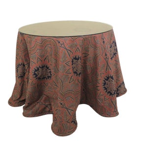 Custom Upholstered Dining Table For Sale