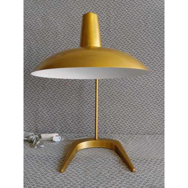 Mid-Century Modern Robert Abbey Mid-Century Style Brass Desk Lamp For Sale - Image 3 of 9