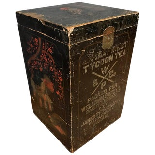 Wellman Peck & Co. Large Lacquer Decorated Japanese Tea Box, Early 1900s For Sale