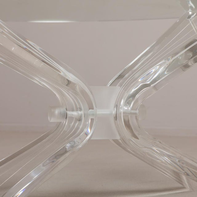 A Butterfly Shaped Lucite Coffee Table Base USA 1970s Price excludes glass top, can be supplied at cost NB: Price includes...