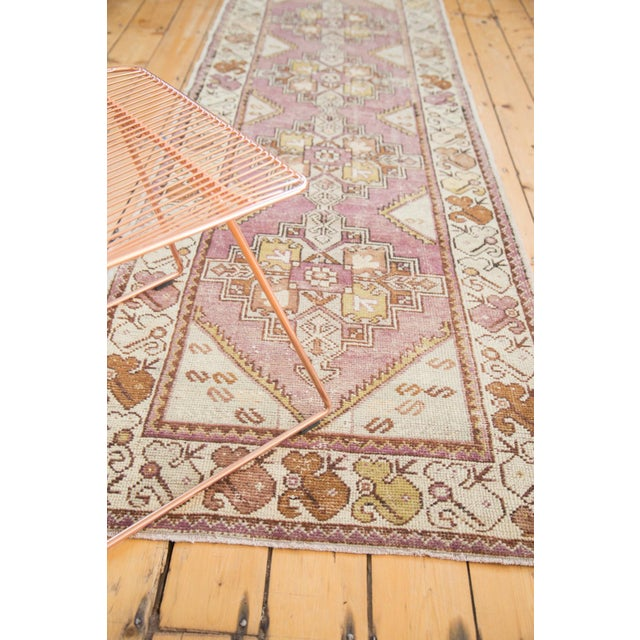 "Farmhouse Vintage Distressed Oushak Rug Runner - 3' X 9'2"" For Sale - Image 3 of 8"
