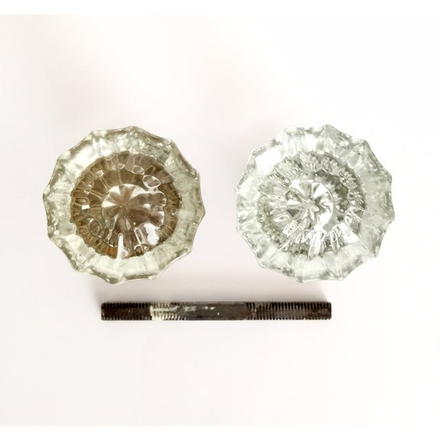 Vintage American Glass Door Knobs - Pair For Sale - Image 4 of 5