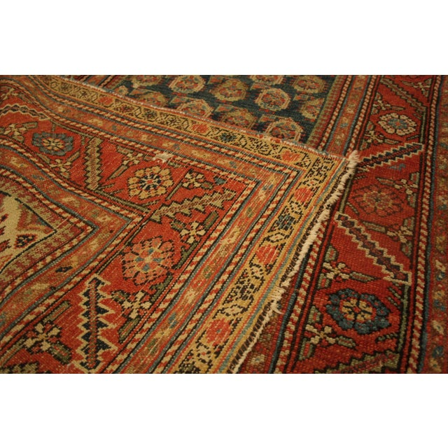 "Long Vintage Hand-Knotted Wool Rug - 13′5″ X 3'8"" - Image 8 of 11"