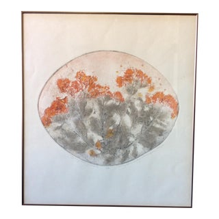 Mary Ann De Buy Wenniger Botanical Collagraph For Sale