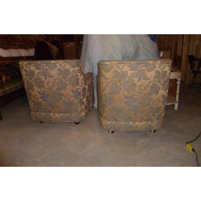 Henredon Vintage Henredon Barrel Tub 2 Club Chair Good Frames - a Pair Mid Century Modern MCM Offer For Sale - Image 4 of 10