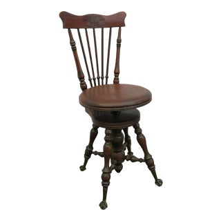 Late 1800s Claw Feet Piano Bench Stool Chair For Sale
