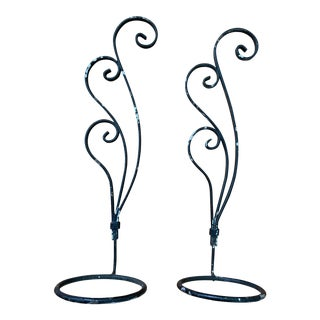 Antique Plant Hangers - a Pair For Sale