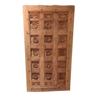 A Carved Wood Ceiling or Painting, XVIIIth century