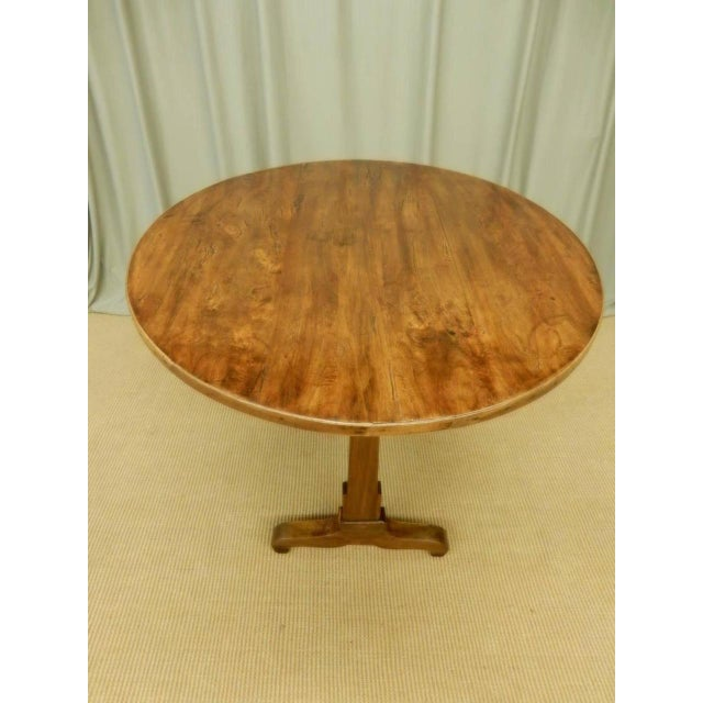 Beautifully restored 19th c walnut French Provincial oblong wine table. Circa 1820.