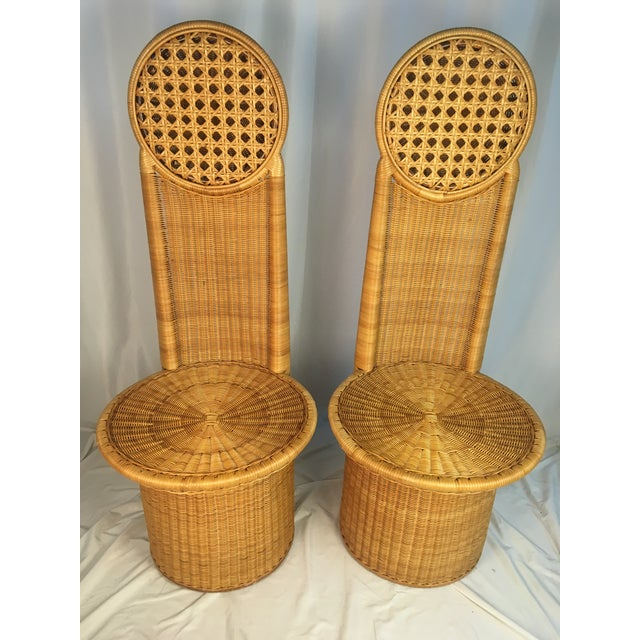 1980s Vintage Rattan Chairs - a Pair For Sale - Image 11 of 12