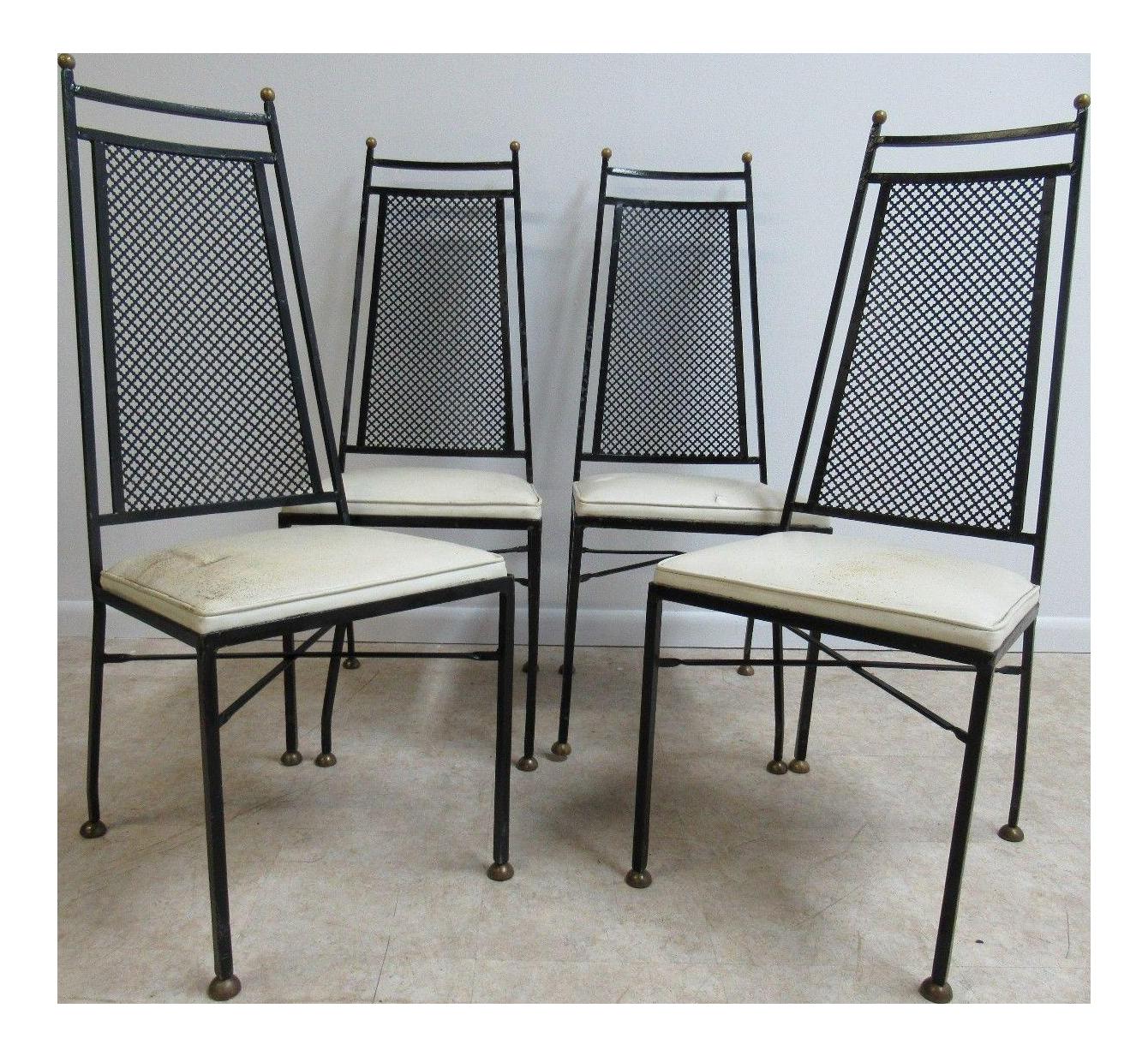 Mid Century Wrought Iron Patio Chairs Chairish