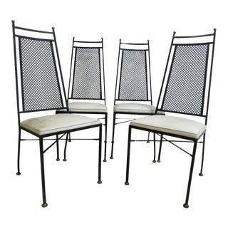 Mid-Century Wrought Iron Patio Chairs