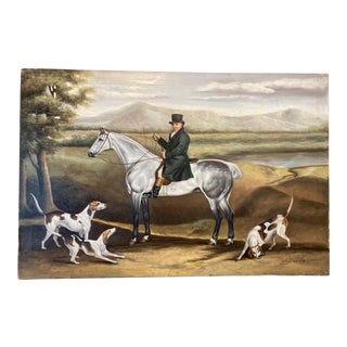 """The French Herder"" Signed Oil on Canvas Painting For Sale"