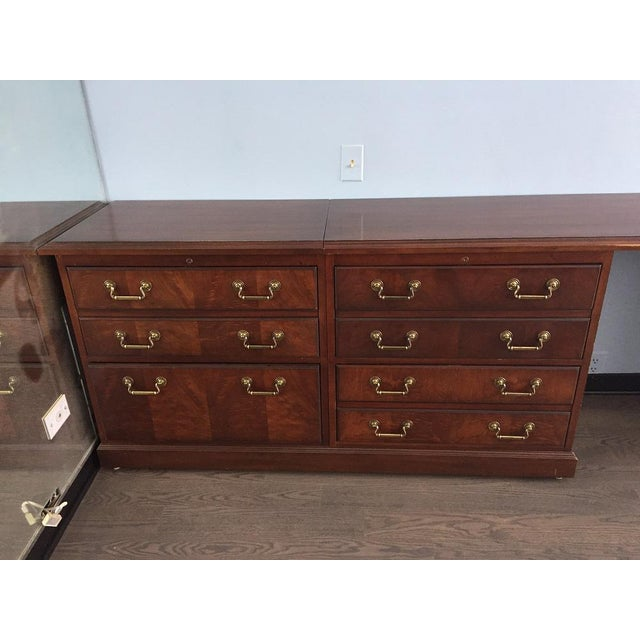 "This fantastic Kimball Credenza has ""held court"" in Mies Van der Rohe office in downtown Chicago. Flexible drawers hold..."