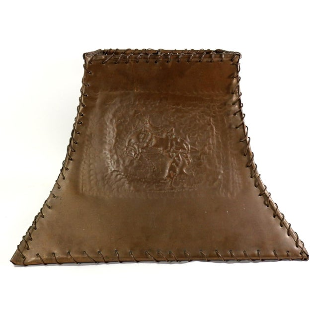 1920s Ranch Cowboy Lamp Shade, Copper - Image 5 of 8