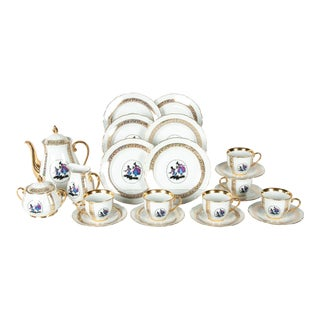 Tea/Coffee Luncheon Set Service for 6 People For Sale