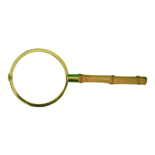 Vintage Bamboo Magnifying Glass For Sale