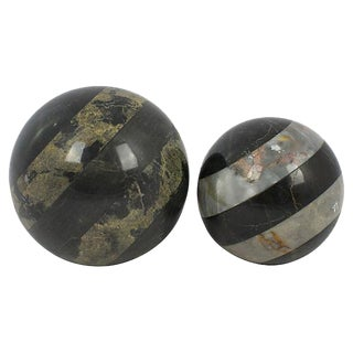 Marble Spheres - a Pair For Sale