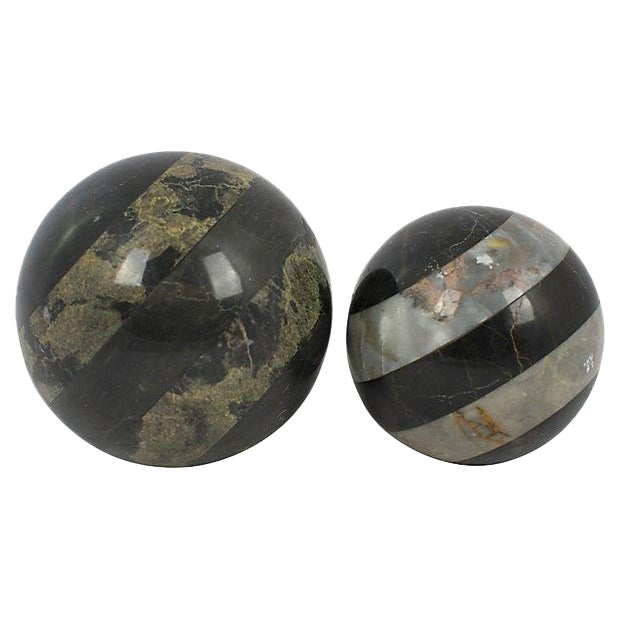 Marble Spheres - a Pair - Image 1 of 2