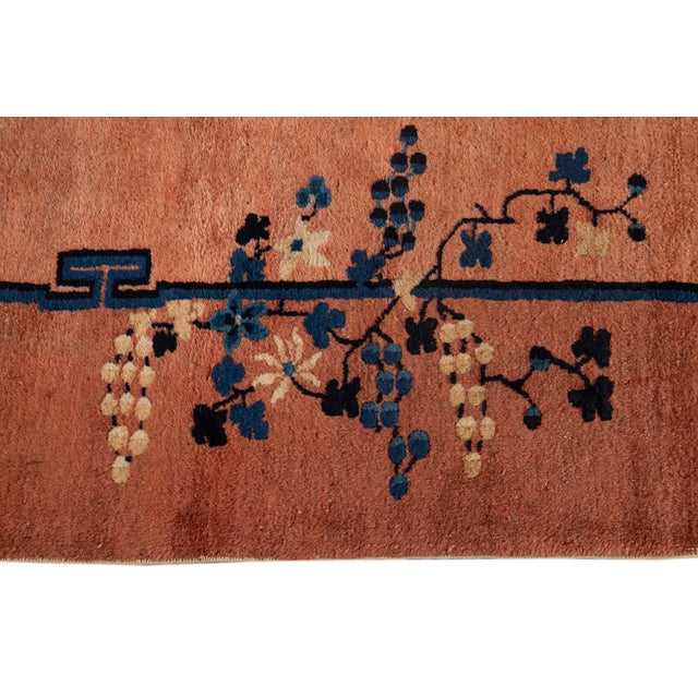 Early 20th Century Antique Art Deco Chinese Wool Rug 9 X 15 For Sale - Image 12 of 13