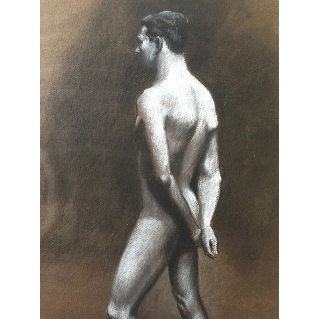Standing Male Nude by Thad Leland, Mid Century - Image 2 of 4
