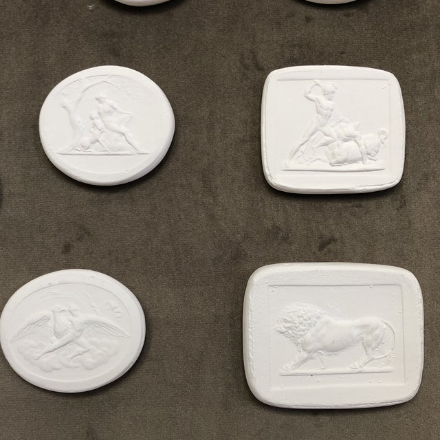 Collection of Framed Plaster Intaglios For Sale In Houston - Image 6 of 10