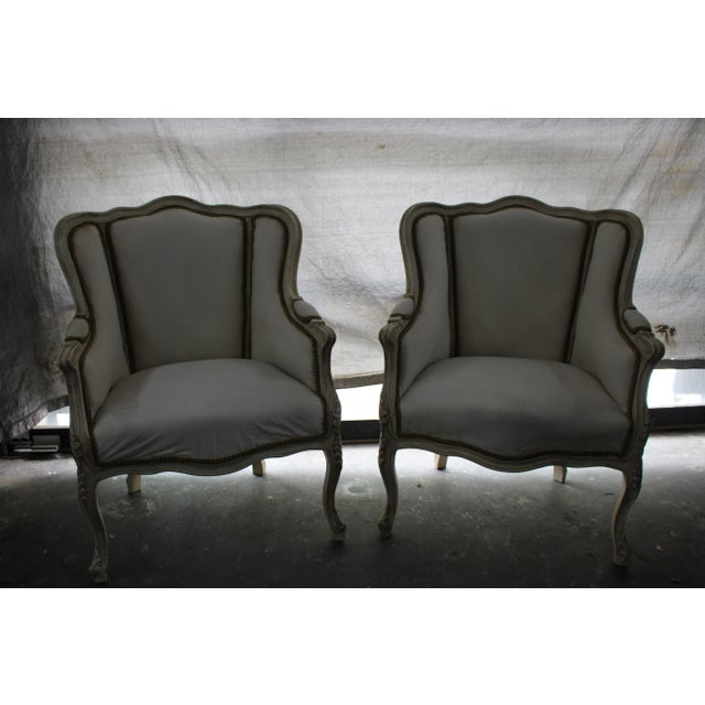 Early 20th Century Anrique French Bergère Chairs - A Pair For Sale In Atlanta - Image 6 of 9