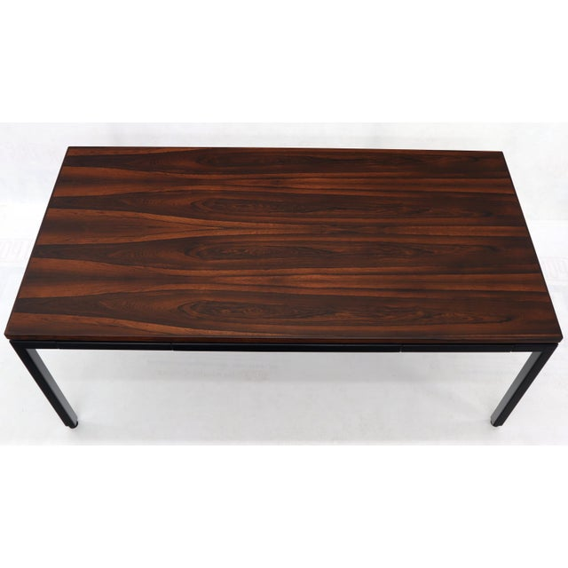 Brown Dunbar Vivid Rosewood Grain Low Profile Mid Century Modern Desk Writing Table. For Sale - Image 8 of 13
