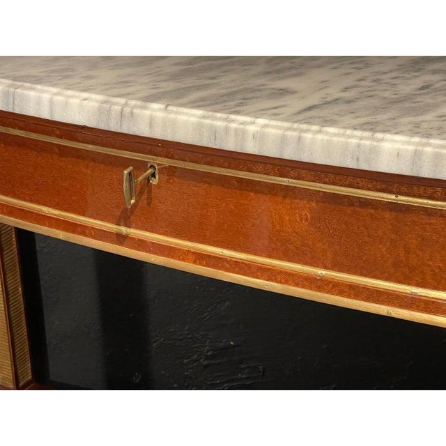 Russian Neoclassical Console / Sofa Table or Sideboard, Demilune For Sale In New York - Image 6 of 10