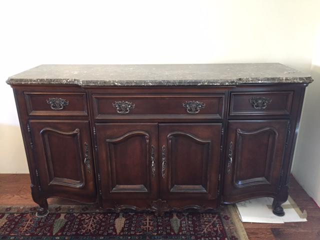 Marble Granite Top Dining Room Buffet Sideboard by Bernhardt Chairish