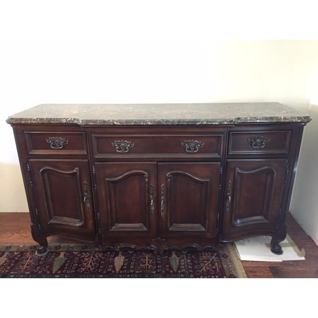 Marble/Granite Top Dining Room Buffet/Sideboard by Bernhardt ...