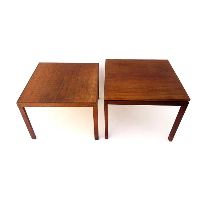 Mid-Century Hans Olsen Teak End Table || Made in Denmark || One of Two For Sale - Image 11 of 13