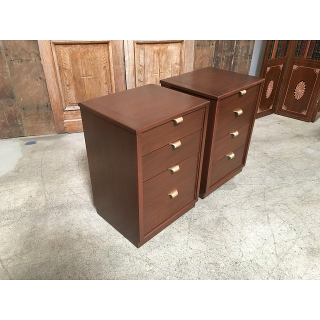 Drexel Mid-Century Modern Edward Wormley for Drexel Wood Precedent Nightstands - a Pair For Sale - Image 4 of 11