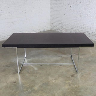 Athos Dining Table by Paolo Piva for B and B Italia Chrome and Dark Brown Oak Preview