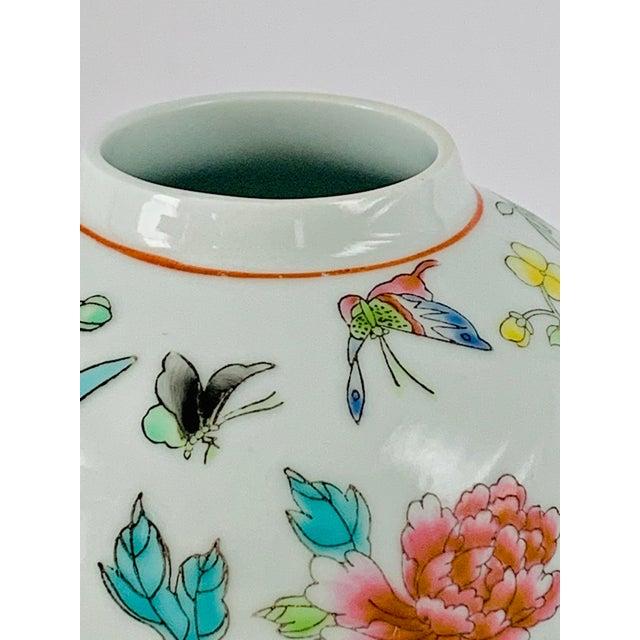 Ceramic Vintage Chinese Floral Ginger Jar For Sale - Image 7 of 11
