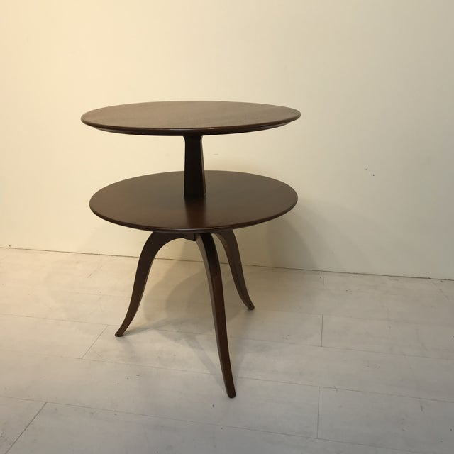 Mid-Century Modern 1950s Mid-Century Modern Paul Frankl for Brown Saltman Tiered Oak Side Table For Sale - Image 3 of 6