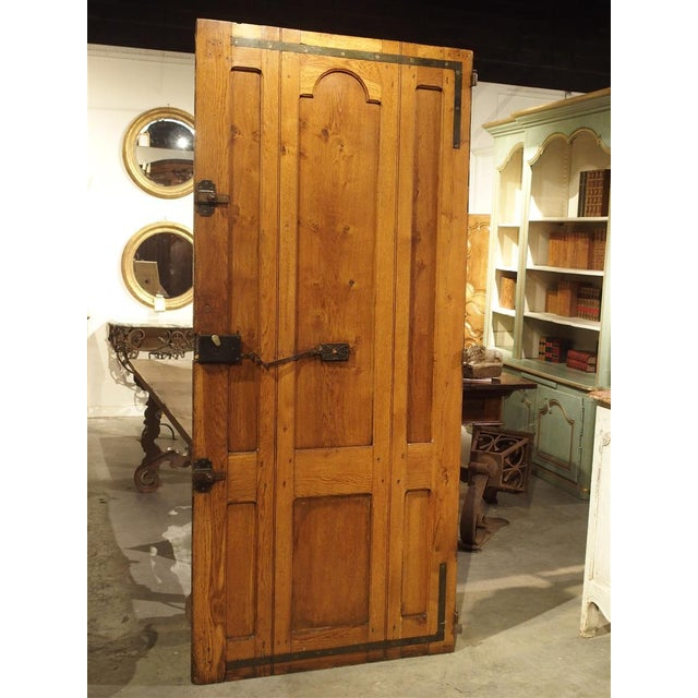 Metal Early 1900s French Louis XIV Style Oak Entry Door For Sale - Image 7 of 11