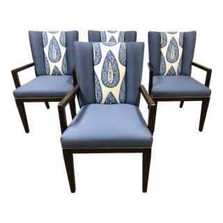 New Henredon Barbara Barry Paley Arm Chairs For Sale