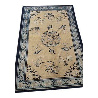 """Antique Chinese - Peking Rug 5'2""""x7'6"""" For Sale"""