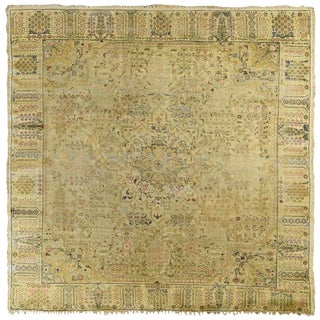 Anatolian Kaiserie Silk Square Rug For Sale