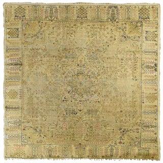 Anatolian Kaiserie Silk Square Rug For Sale
