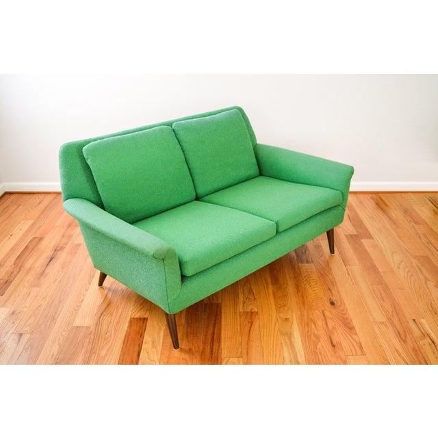 Mid-Century Folke Ohlsson Green Loveseat Sofa - Image 6 of 8