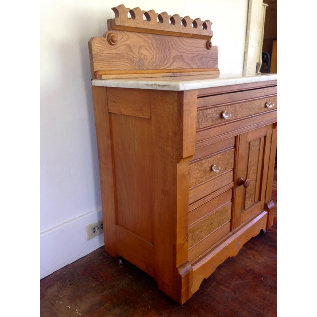 Americana 20th Century Boho chic G. Schindler & Co Marble Top Cabinet For Sale - Image 3 of 9