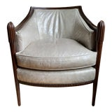 Image of Baker Leather Chair by Barbara Barry For Sale