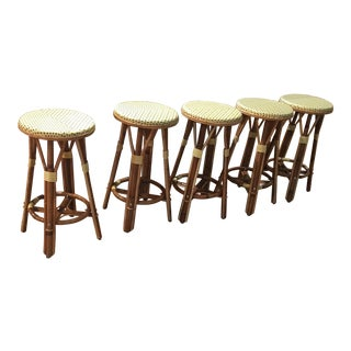 Modern French Bistro Stools- Set of 5 For Sale