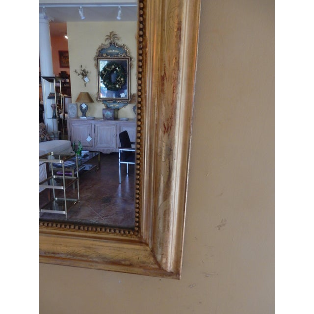 19th Century Louis Philippe Gold Gilt Mirror For Sale - Image 4 of 7