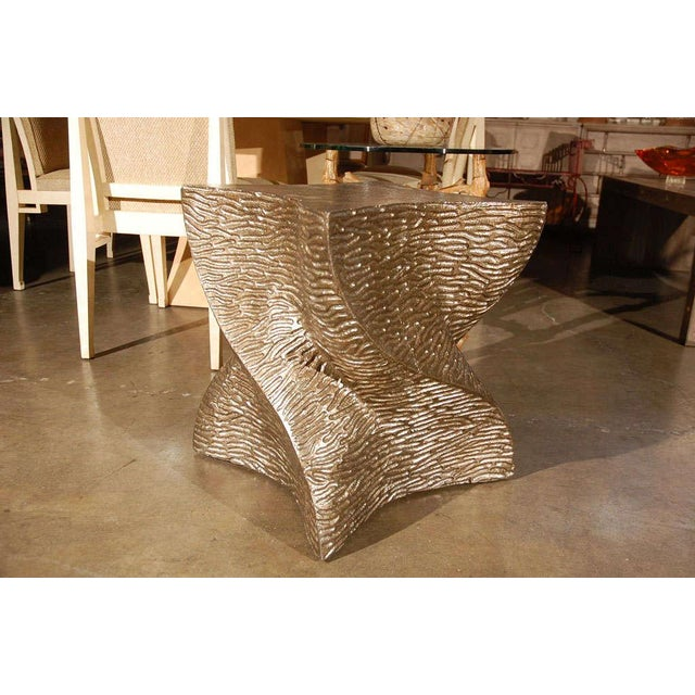 Contemporary Modern Paul Marra Twist Side Table For Sale - Image 3 of 9